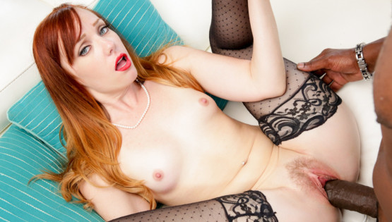 dani jensen lexington steele interracial redhead pale big cock stockings