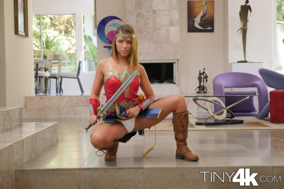 adriana chechik halloween tiny4k super hero trick treating wonder woman cosplay big cock